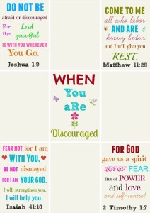 Printable verses for when you are discouraged