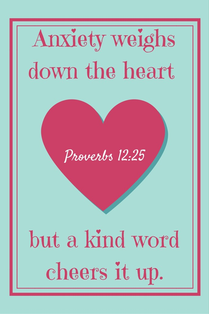 What is the antidote for the poison of an anxious heart?