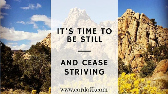 It's Time to Be Still and Cease Striving