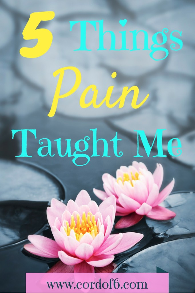 Have you ever wondered why God doesn't take your pain away when He could very easily? Here are 5 things I learned from living with pain.
