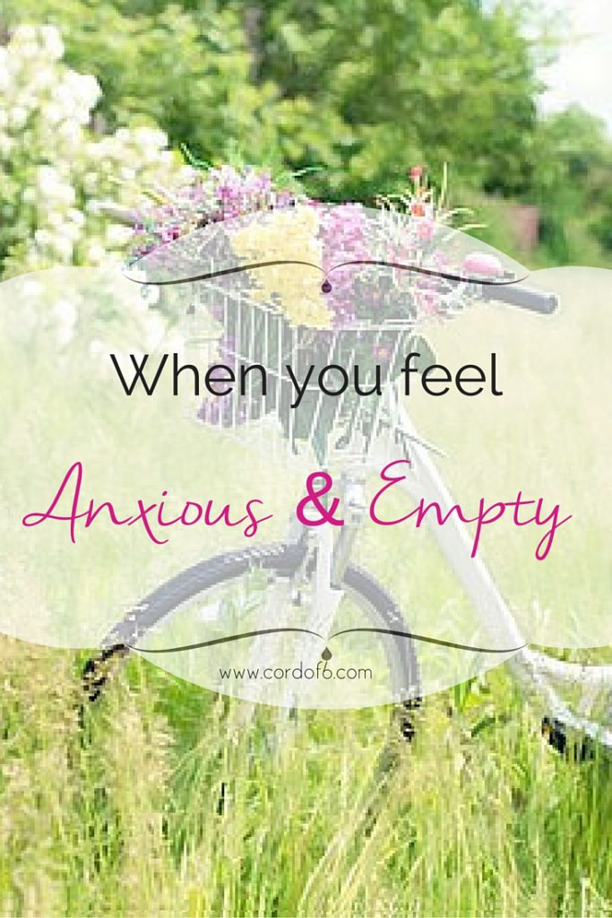 What can you do when you feel anxious and empty? We struggle to fill that emptiness on our own. But only through Christ can we truly be satisfied.