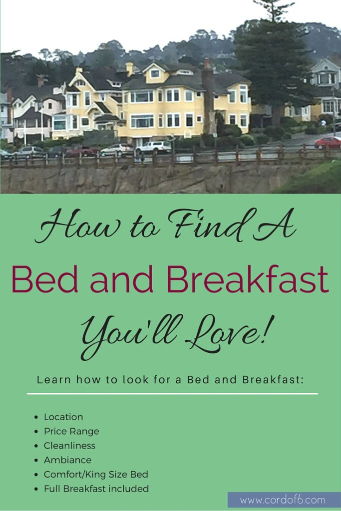 There are so many Bed and Breakfasts to choose from! Find out how to find a bed and breakfast you'll love!
