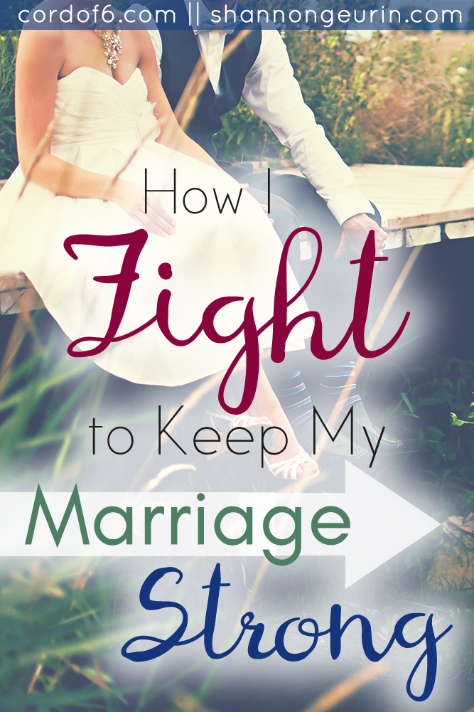 Sometimes we need to do battle and fight the good fight of faith for our marriages. Over 20 years of marriage I've learned how to fight to keep my marriage strong.