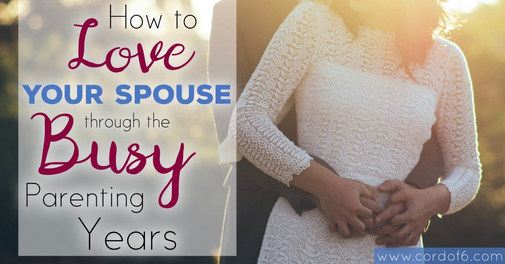 Learning how to love your spouse with young kids in the house often takes intention and sacrifice. Exhaustion and busyness can easily tire us out causing us to lose the desire to pursue love with the same effort we gave when the relationship was new and our vision was easily focused on one another.