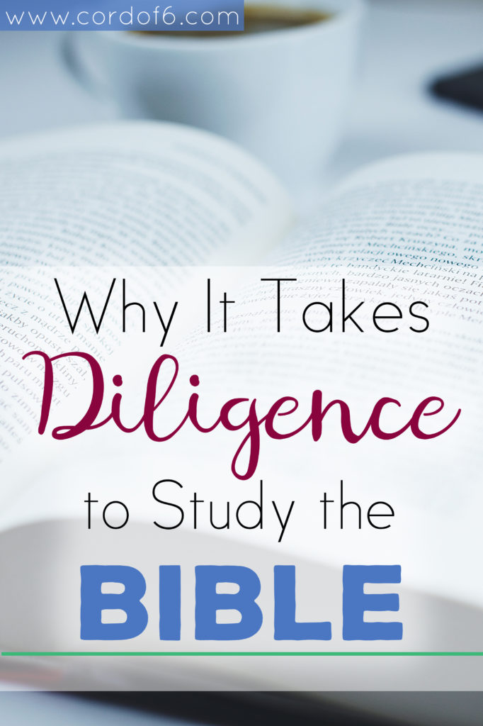 God calls us to a life of holiness and obedience and He gives us the spiritual resources we need to walk in righteousness. Learn why it takes diligence to study the Bible.