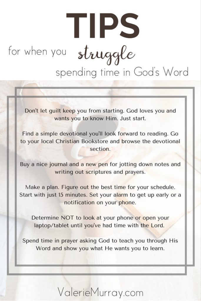 We all go through times when we struggle spending time in God's Word. Here are some helpful tips and resources to help motivate you!