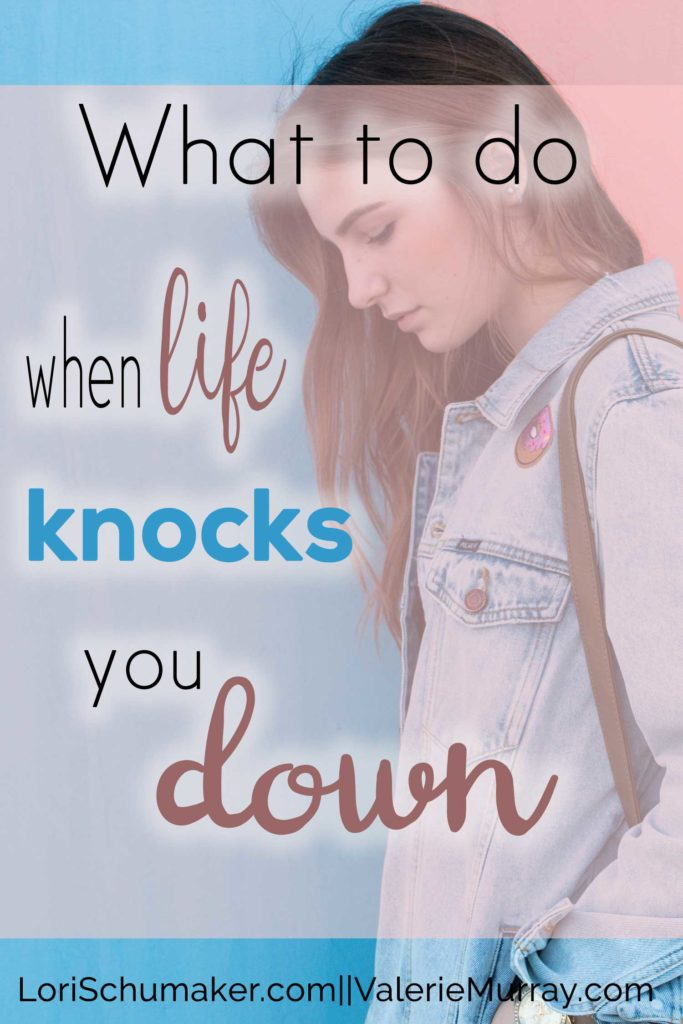 What do you do when life knocks you down and getting back up feels impossible? Here's a prayer to help you get back up again.