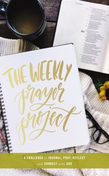 The Weekly Prayer Project Journal helps you connect with God as you explore 7 different types of prayer found in the Bible.