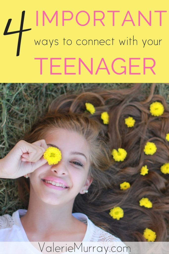 Are you wondering how to connect with your teenager? Are you wondering how to connect with your teenager? Discover 4 important ways to bond with your teen by balancing boundaries and bonding. #parentingteens #bondingandboundaries.
