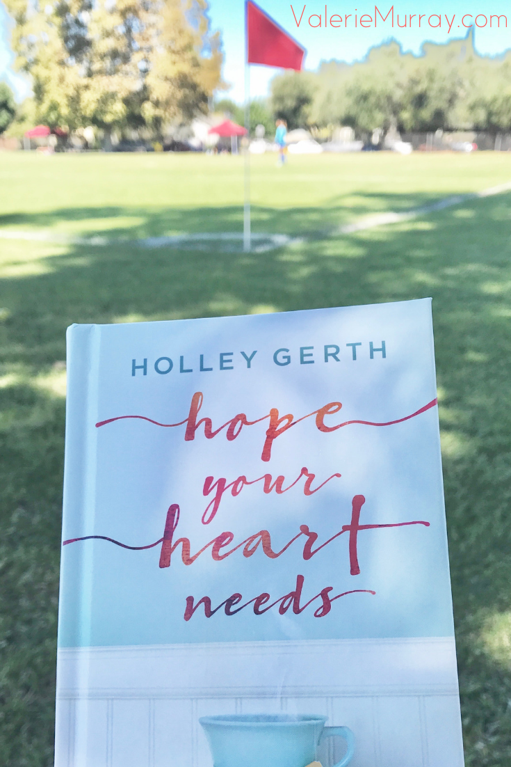 Hope Your Heart Needs by Holley Gerth is a beautiful devotional filled with endearing stories encouraging readers to find hope, peace,and joy in God's love.
